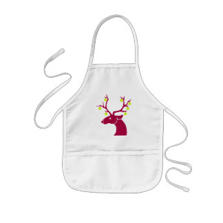 Reindeer and tennis balls kids apron