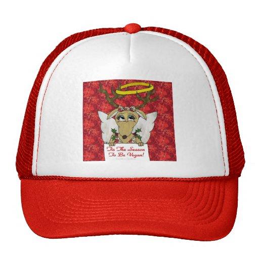 Reindeer Angel Tis The Season to Be Vegan Hat