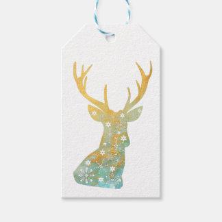 Reindeer Antler. Snowflakes. Christmas Winter Gift Tags