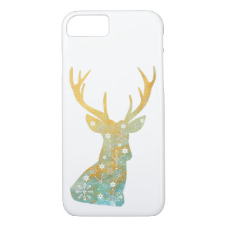 Reindeer Antler. Snowflakes. Winter. Art iPhone 8/7 Case