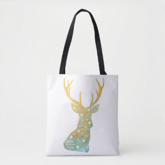 Reindeer Antler. Snowflakes. Winter. Art Tote Bag
