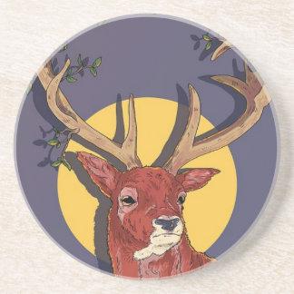 Reindeer Antlers Christmas Coaster
