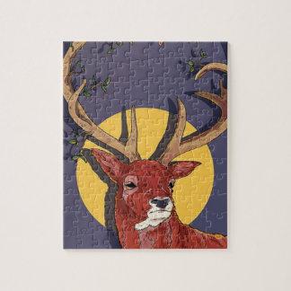 Reindeer Antlers Christmas Jigsaw Puzzle