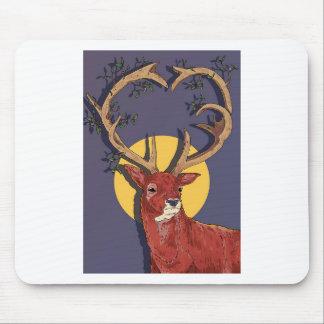 Reindeer Antlers Christmas Mouse Pad