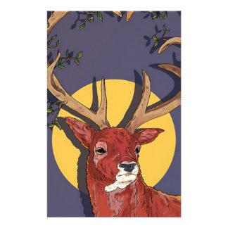 Reindeer Antlers Christmas Stationery