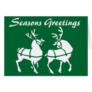 Reindeer Art Cards Custom Christmas Greetings Card