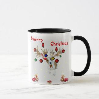 reindeer Basenji Christmas mug