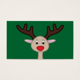 Reindeer cartoon character business card
