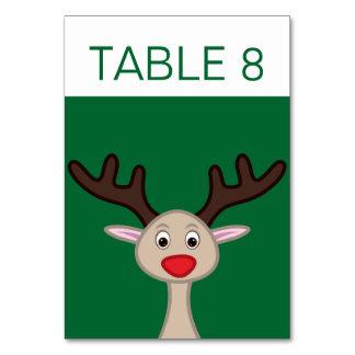 Reindeer cartoon character card