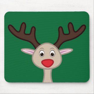 Reindeer cartoon character mouse pad