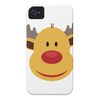 Reindeer Cartoon Face Case-Mate iPhone 4 Case