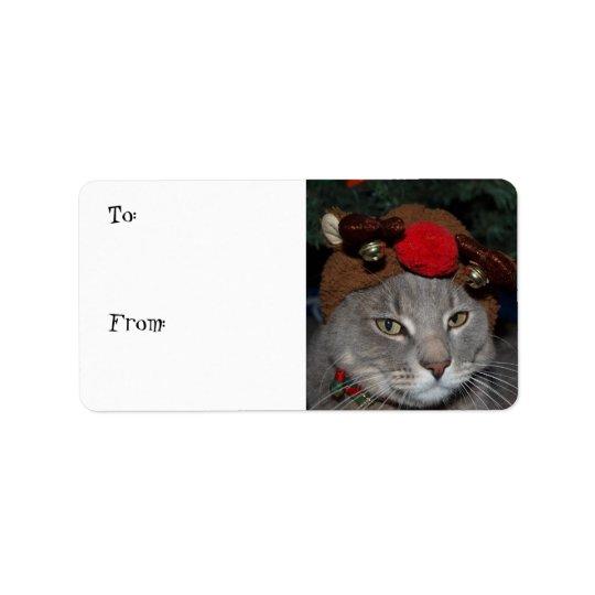 Reindeer Cat Label