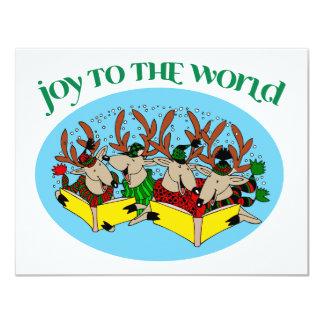 Reindeer Choir - Joy to the World Card