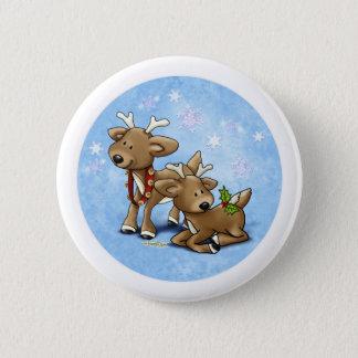 Reindeer Christmas 2 Inch Round Button