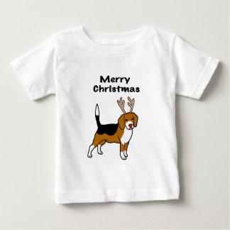 Reindeer Christmas Beagle Baby T-Shirt