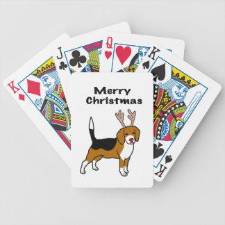 Reindeer Christmas Beagle Bicycle Playing Cards