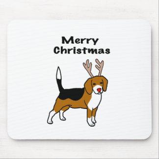 Reindeer Christmas Beagle Mouse Pad