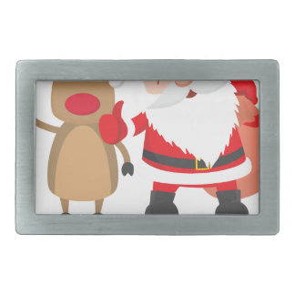 reindeer christmas belt buckles