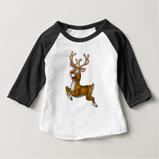 Reindeer Christmas Cartoon Character Baby T-Shirt