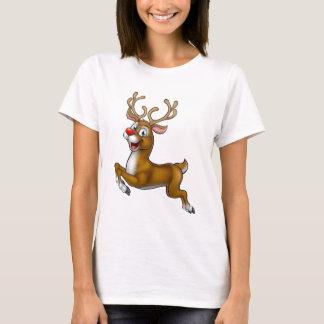 Reindeer Christmas Cartoon Character T-Shirt