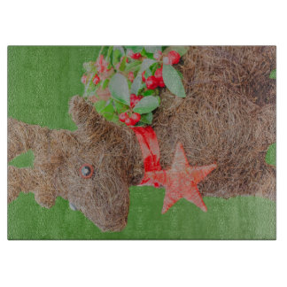 Reindeer Christmas decoration Cutting Board