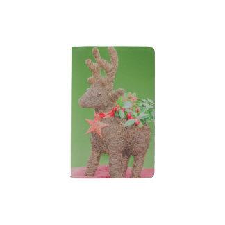 Reindeer Christmas decoration Pocket Moleskine Notebook
