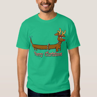 Reindeer Christmas Doxie T-shirt