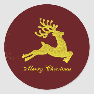 Reindeer Christmas gift label