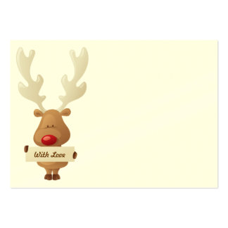 Reindeer Christmas gift tag Pack Of Chubby Business Cards