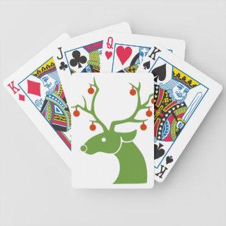 Reindeer Christmas Holidays Joy Bicycle Playing Cards