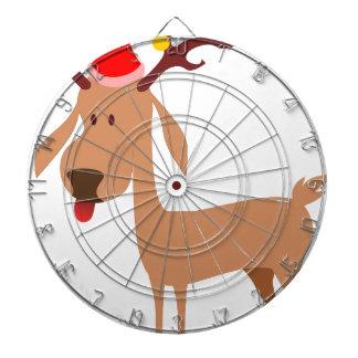 Reindeer Christmas Holidays Joy Dartboard