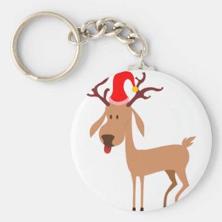 Reindeer Christmas Holidays Joy Keychain