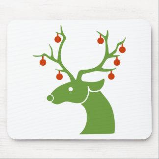 Reindeer Christmas Holidays Joy Mouse Pad