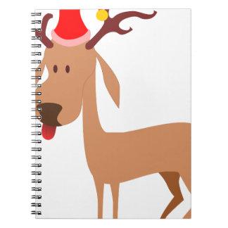 Reindeer Christmas Holidays Joy Notebook