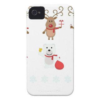reindeer christmas iPhone 4 Case-Mate case