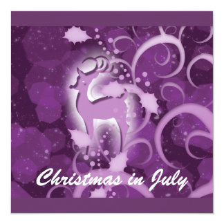 Reindeer Christmas July winter wonderland Card