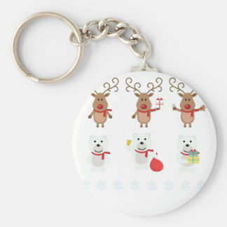 reindeer christmas keychain