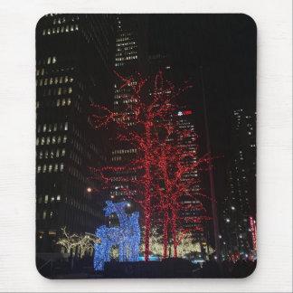 Reindeer Christmas Lights New York City Manhattan Mouse Pad