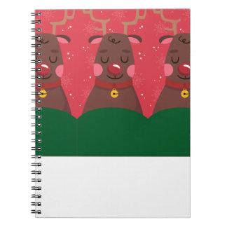 reindeer christmas notebook