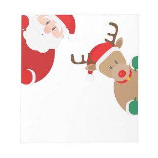 reindeer christmas notepad