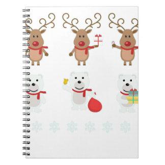 reindeer christmas spiral notebook