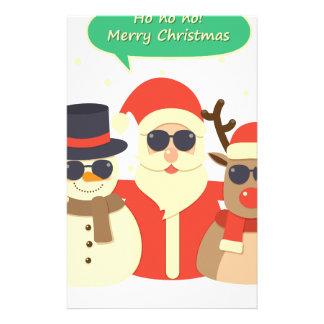 reindeer christmas stationery