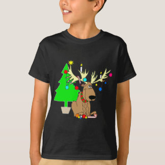 Reindeer Christmas T Shirt Holiday Gift