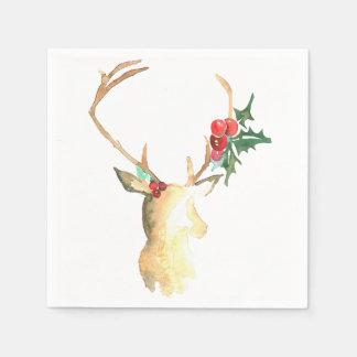 Reindeer Cocktail Napkin Paper Napkins