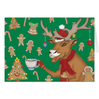 Reindeer Cookie Time Greeting Card