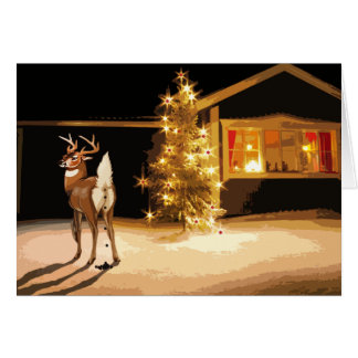 Reindeer Crapping Greeting Card