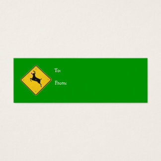 Reindeer Crossing Gift Tag Mini Business Card