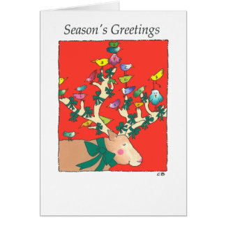"""Reindeer"" Custom Christmas Card"