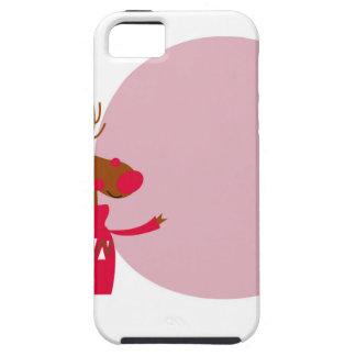 Reindeer cute animal xmas iPhone 5 covers