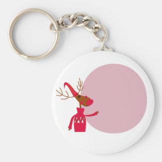 Reindeer cute animal xmas keychain